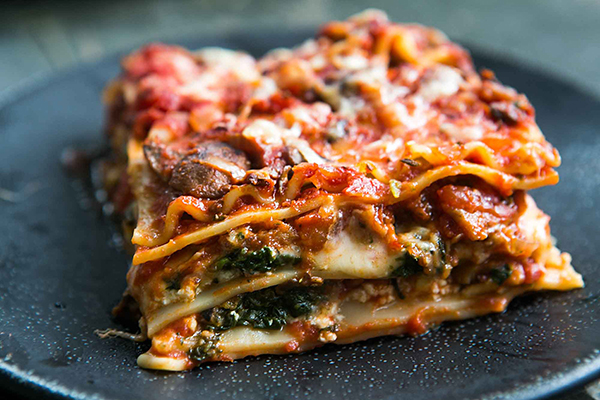 vegan lasagna option
