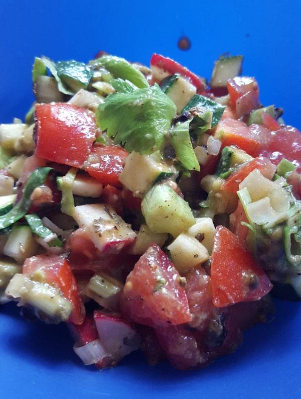 Italian Tomato Avocado Salad